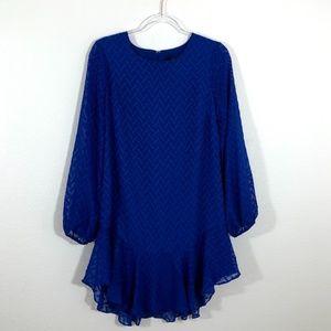BCBGMaxAzria Blue Sapphire Tunic Shift Dress FB03